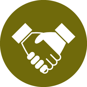 Icon representing the team work executed by collaborative divorce lawyers, financial planners and mental health professionals, the ideal solution for anyone doing a search for local Edmonton lawyer near me, help with divorce and separation or need a divorce lawyer for uncontested divorce.