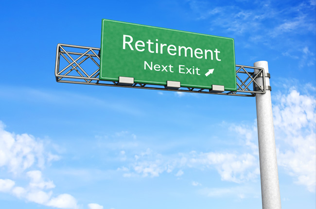 photo of a sign pointing to retirement, something seniors typically do, but some are choosing to divorce in their senior years, often called a grey divorce